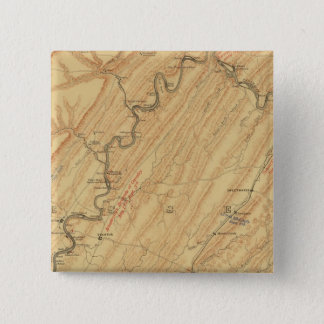 Chattanooga, Tennessee 15 Cm Square Badge