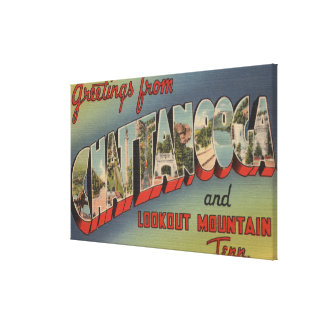 Chattanooga, Tennessee - Large Letter Scenes 2 Canvas Print