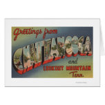 Chattanooga, Tennessee - Large Letter Scenes Greeting Card