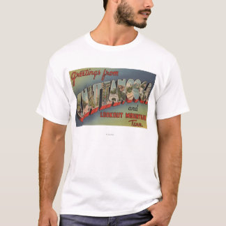 Chattanooga, Tennessee - Large Letter Scenes T-Shirt
