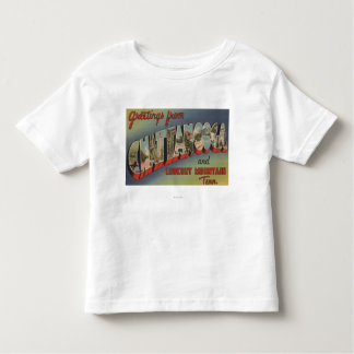 Chattanooga, Tennessee - Large Letter Scenes Toddler T-Shirt
