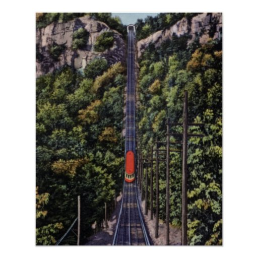 Chattanooga Tennessee Lookout Mountain Incline Poster