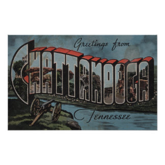 Chattanooga, Tennessee (River Scene) Poster