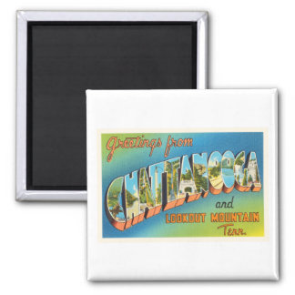 Chattanooga Tennessee TN Vintage Travel Souvenir Square Magnet
