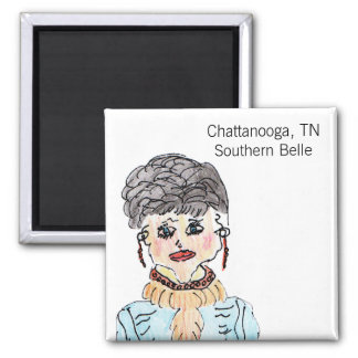 Chattanooga, TN Southern Belle Fridge Magnet