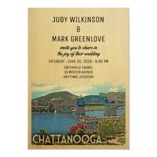 Chattanooga Wedding Invitation Tennessee