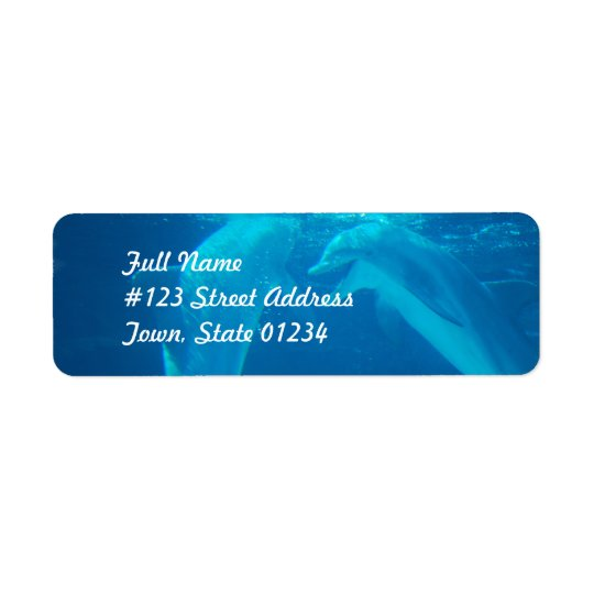 Chatting Dolphin Pair Mailing Labels