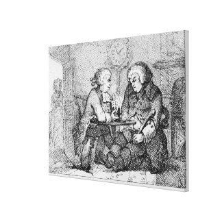 Chatting, illustration canvas print