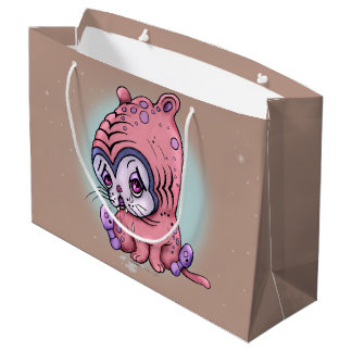 CHATTOU CUTE SAD CAT FUNNY GIFT BAG LARGE