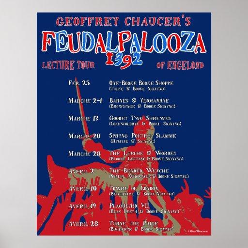 Chaucer 'Feudalpalooza' 1392 Tour Poster