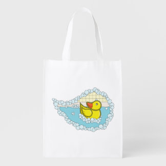 Chaucer the Rubber Duck Reusable Grocery Bag