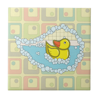 Chaucer the Rubber Duck Tile