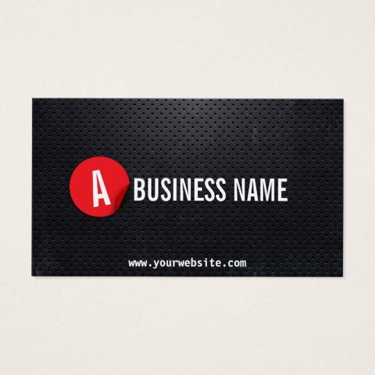 Chauffeur Black Metal Modern Red Label Business Card