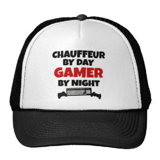 Chauffeur by Day Gamer by Night Trucker Hats