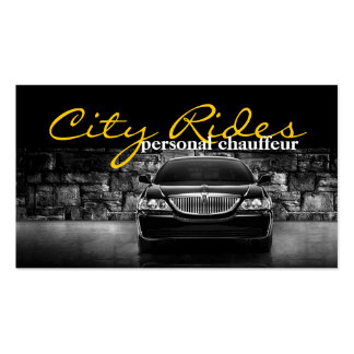 Chauffeur Town Car Driver Transportation Business Pack Of Standard Business Cards