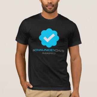 @ChaunceyDavis - Verified - Black T-Shirt
