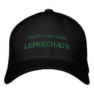 CHAUN'S THE NAME, LEPRECHAUN EMBROIDERED HAT