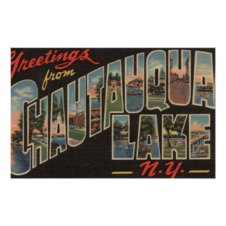 Chautauqua Lake - Large Letter Scenes Poster