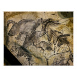 Chauvet Cave in Vallon Pont d'Arc Poster