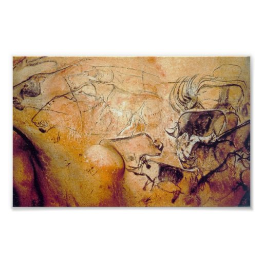 Chauvet Cave painting Posters