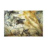 Chauvet Lascaux Cave Painting Horses and animals Stretched Canvas Prints
