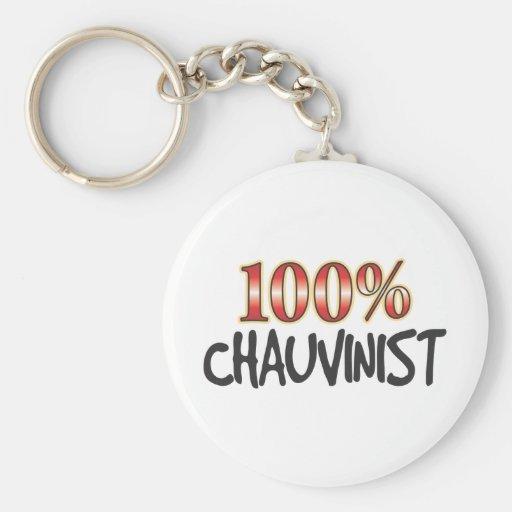 Chauvinist 100 Percent Key Chains