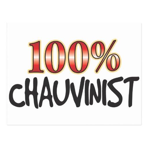 Chauvinist 100 Percent Post Card