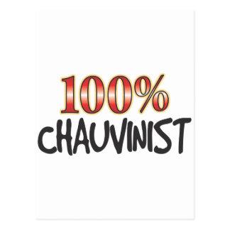 Chauvinist 100 Percent Postcard