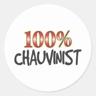 Chauvinist 100 Percent Sticker