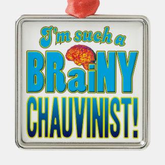 Chauvinist Brainy Brain Ornaments