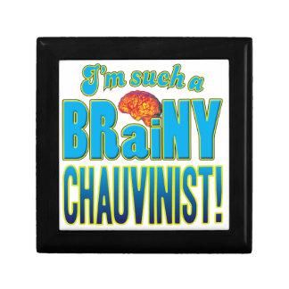 Chauvinist Brainy Brain Keepsake Box
