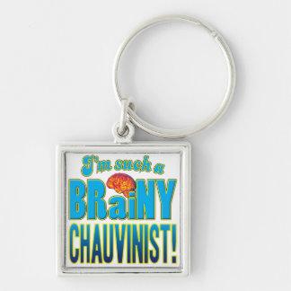 Chauvinist Brainy Brain Key Chain