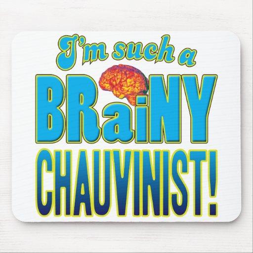 Chauvinist Brainy Brain Mousemats