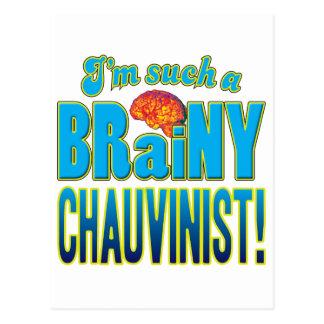 Chauvinist Brainy Brain Postcard