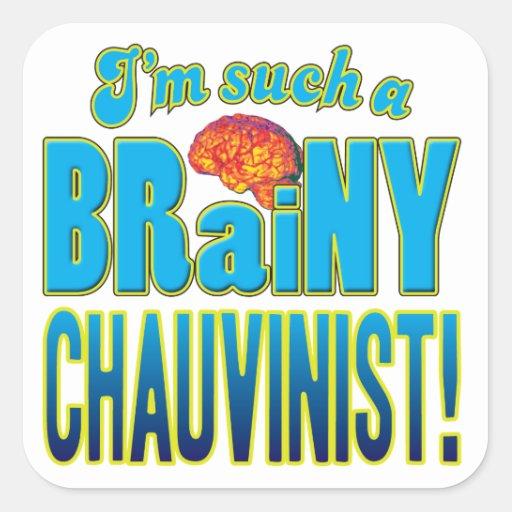 Chauvinist Brainy Brain Stickers