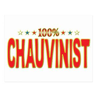 Chauvinist Star Tag Postcard
