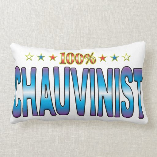 Chauvinist Star Tag v2 Throw Pillow