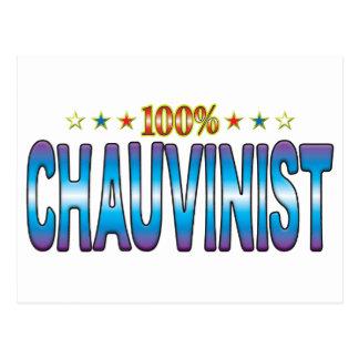 Chauvinist Star Tag v2 Postcard