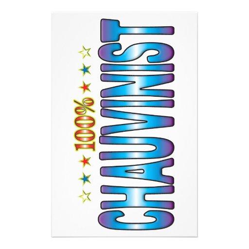 Chauvinist Star Tag v2 Customised Stationery