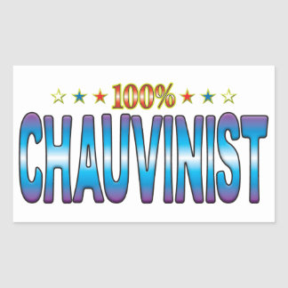 Chauvinist Star Tag v2 Rectangular Stickers
