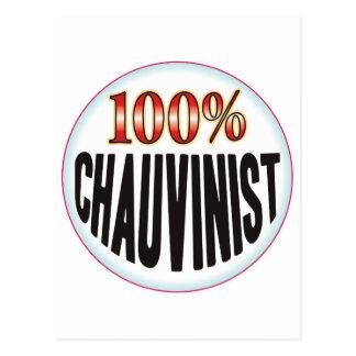 Chauvinist Tag Postcard