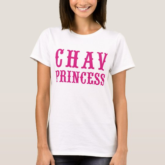 Chav Princess Pink Vintage Badge Hikingduck T-Shirt