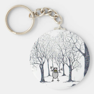 Chaveiro bixo in the haunted forest basic round button key ring