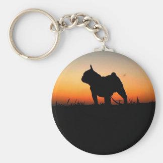 "Chaveiro ""Buldog put-pity-sun "" Basic Round Button Key Ring"