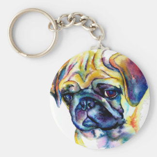 "Chaveiro ""color Buldog "" Basic Round Button Key Ring"