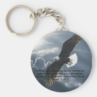 Chaveiro eagle basic round button key ring