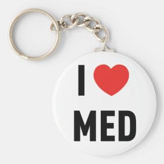 Chaveiro I Love Med Basic Round Button Key Ring