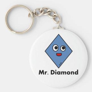 Chaveiro Mr. Diamond By Par3a Basic Round Button Key Ring