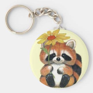 "Chaveiro ""Raccoon "" Basic Round Button Key Ring"