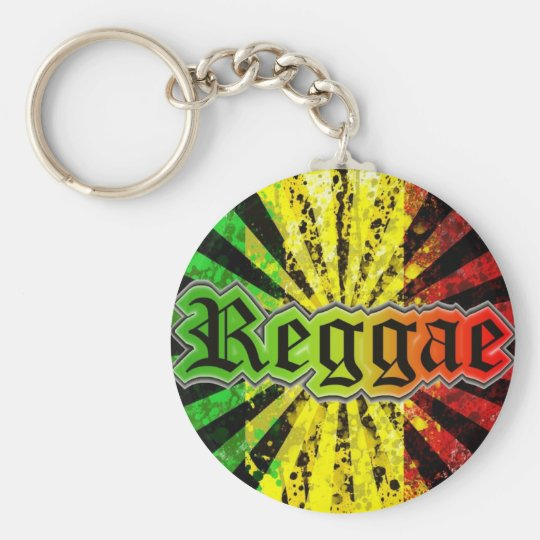 Chaveiro Reggae Basic Round Button Key Ring